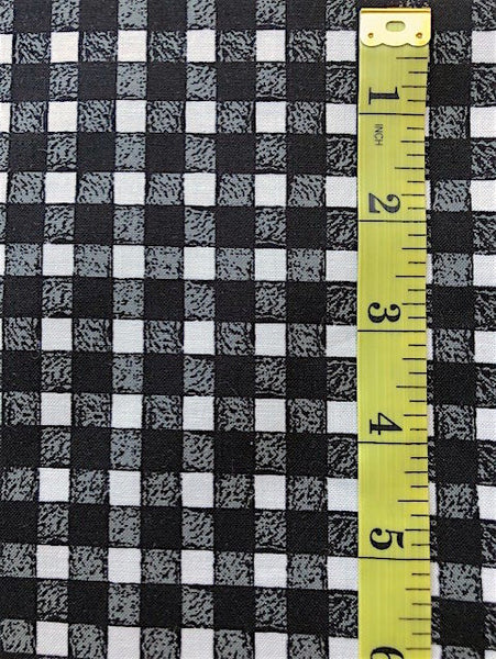 Fabric - Checks & Plaids - Black & White Gingham Check