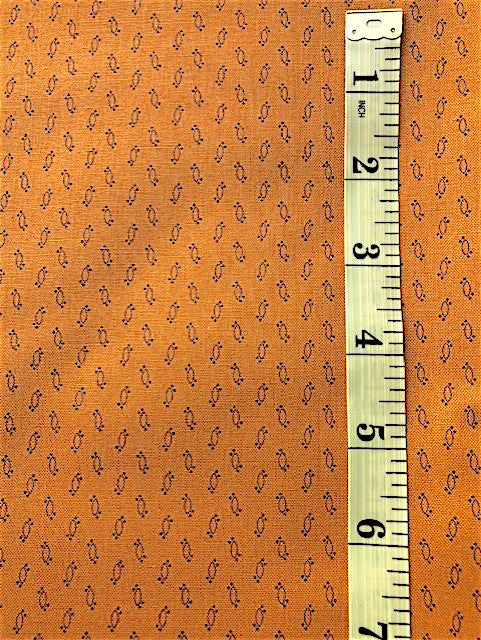 Fabric - Old Brights - Shirting Ovals on Pumpkin Background