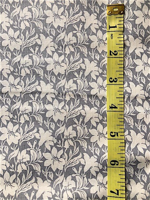 Fabric - Floral - Liberty Cotton - Grey & White Dallies