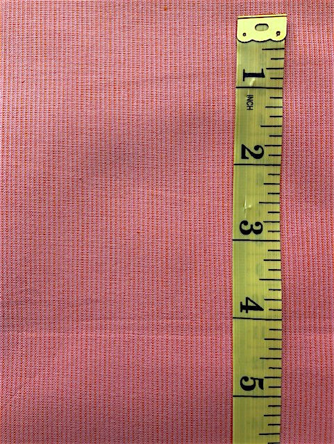 Fabric - Stripe - Woven Melon with Orange Micro Stripe