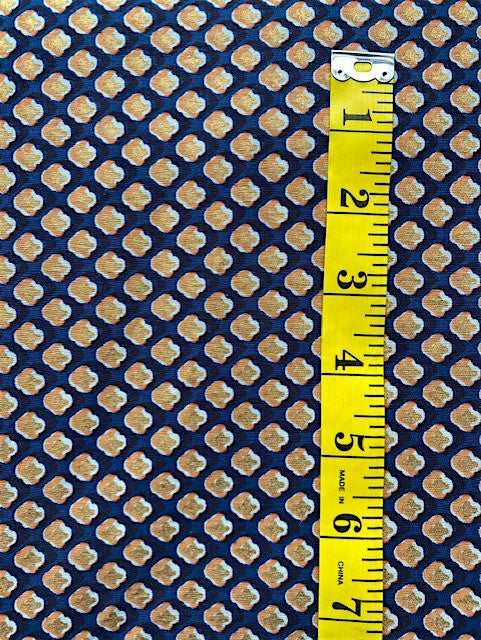 Fabric - Quilt Backing - Black, White, Orange and Gold on Dark Blue Background