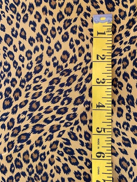 Fabric - Animal Print - Large Leopard Print on Gold Background