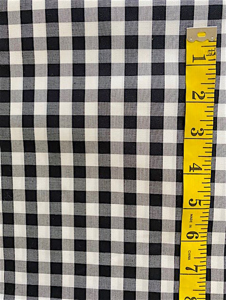 Fabric - Checks & Plaids - Black & White Gingham