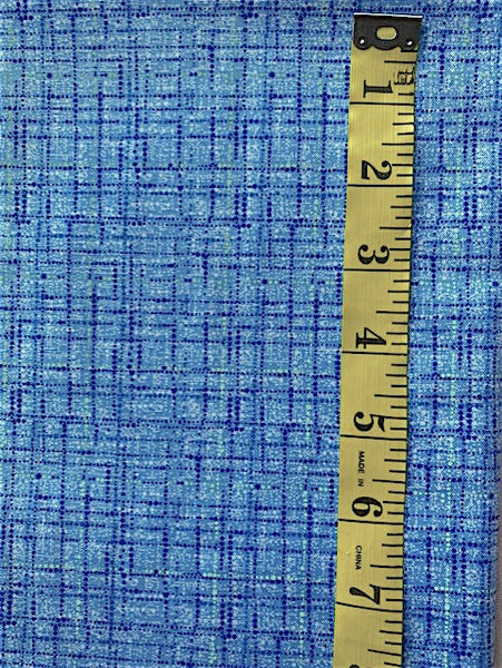 Fabric - Checks & Plaids -  Laminex print - Blue