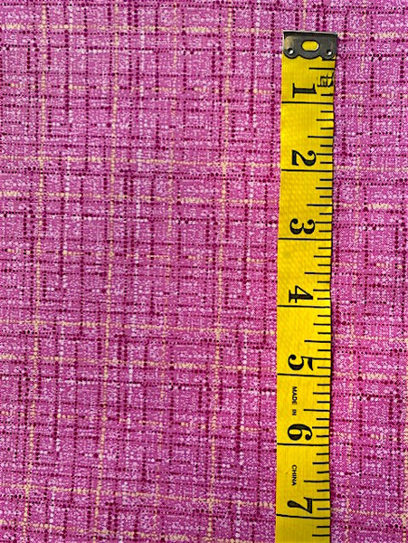 Fabric - Checks & Plaids -  Laminex print - Pink