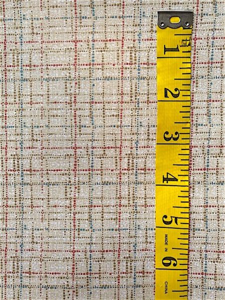 Fabric - Checks & Plaids -  Laminex print - Beige