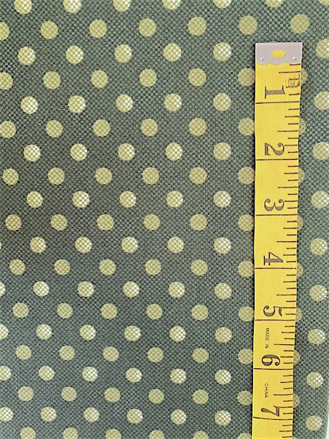 Fabric - Spots - Olive Green Spots on Dark Olive Background