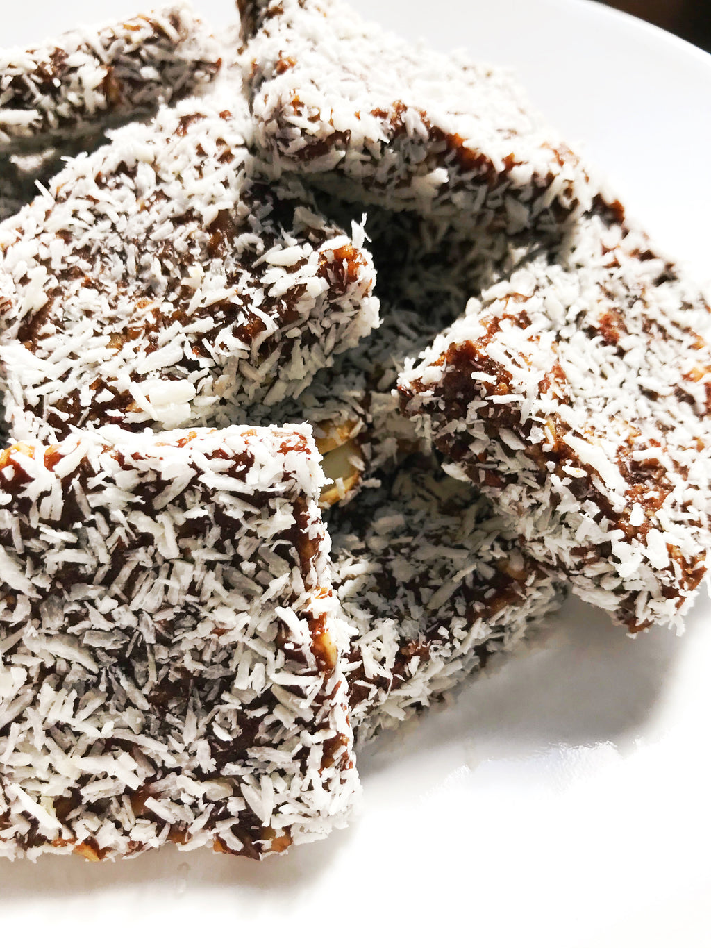 Chocolate & Coconut Date Bars