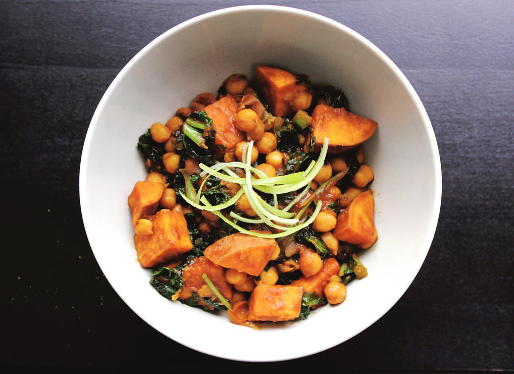Sweet Potato, Chickpea & Kale Bowl