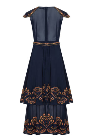 EMPIRE EMBELLISHED MAXI DRESS