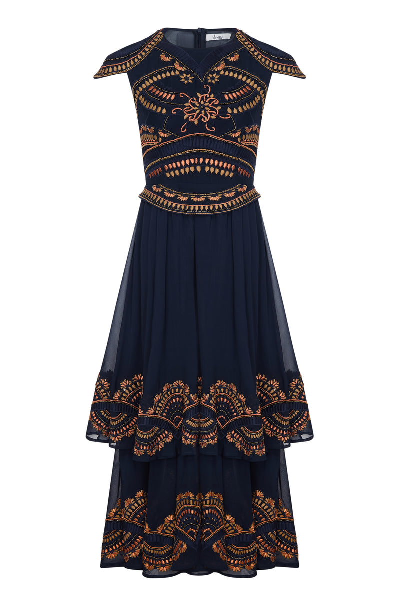 EMPIRE EMBELLISHED MAXI DRESS - Aarabhi
