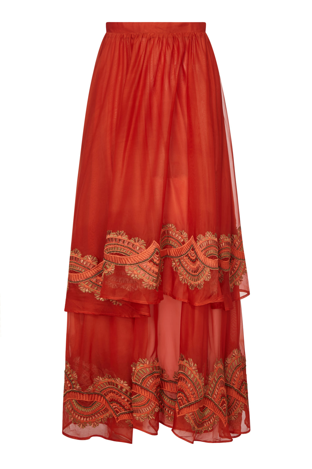 EMPIRE EMBELLISHED MAXI SKIRT