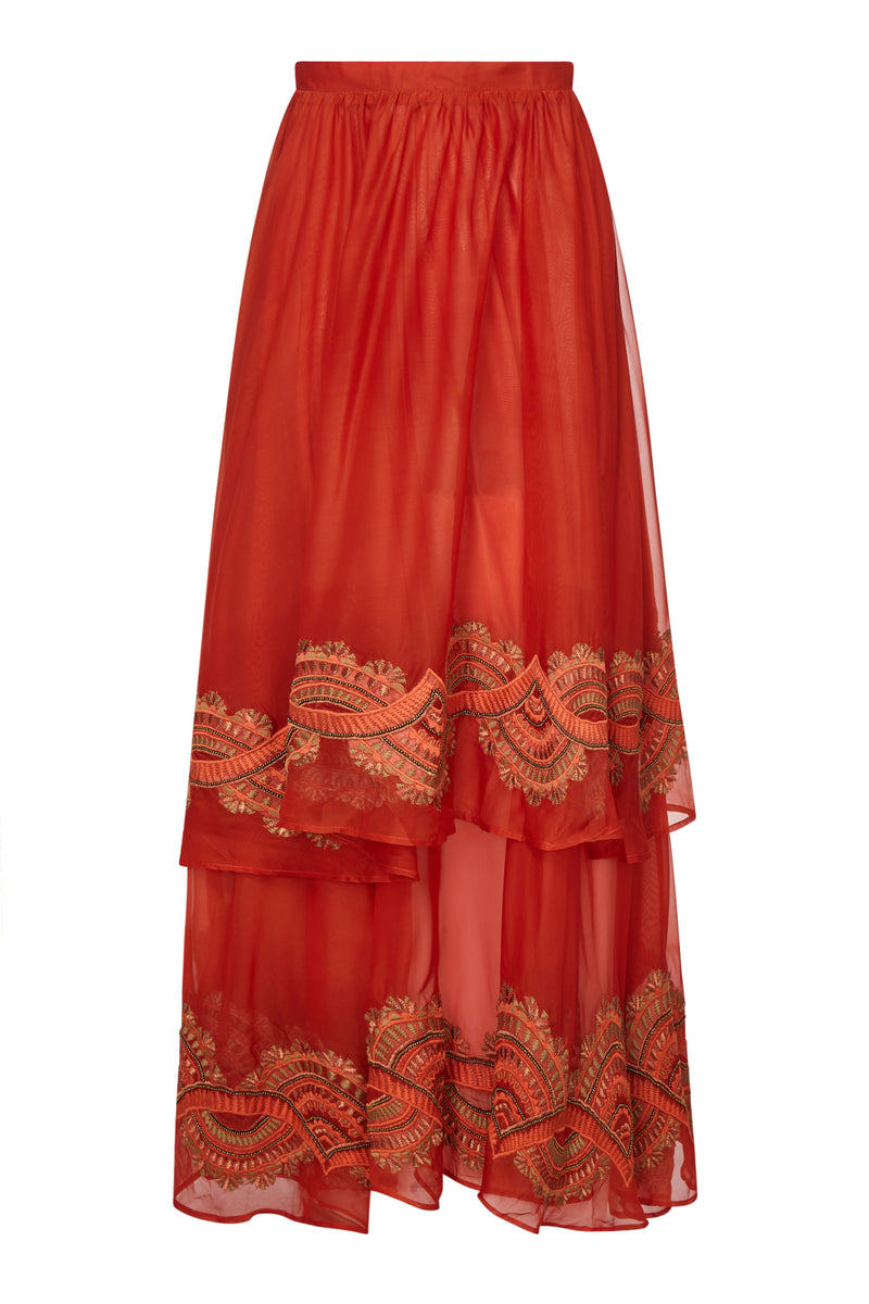 EMPIRE EMBELLISHED MAXI SKIRT - Aarabhi