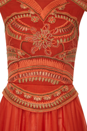 EMPIRE EMBELLISHED DRESS - Aarabhi