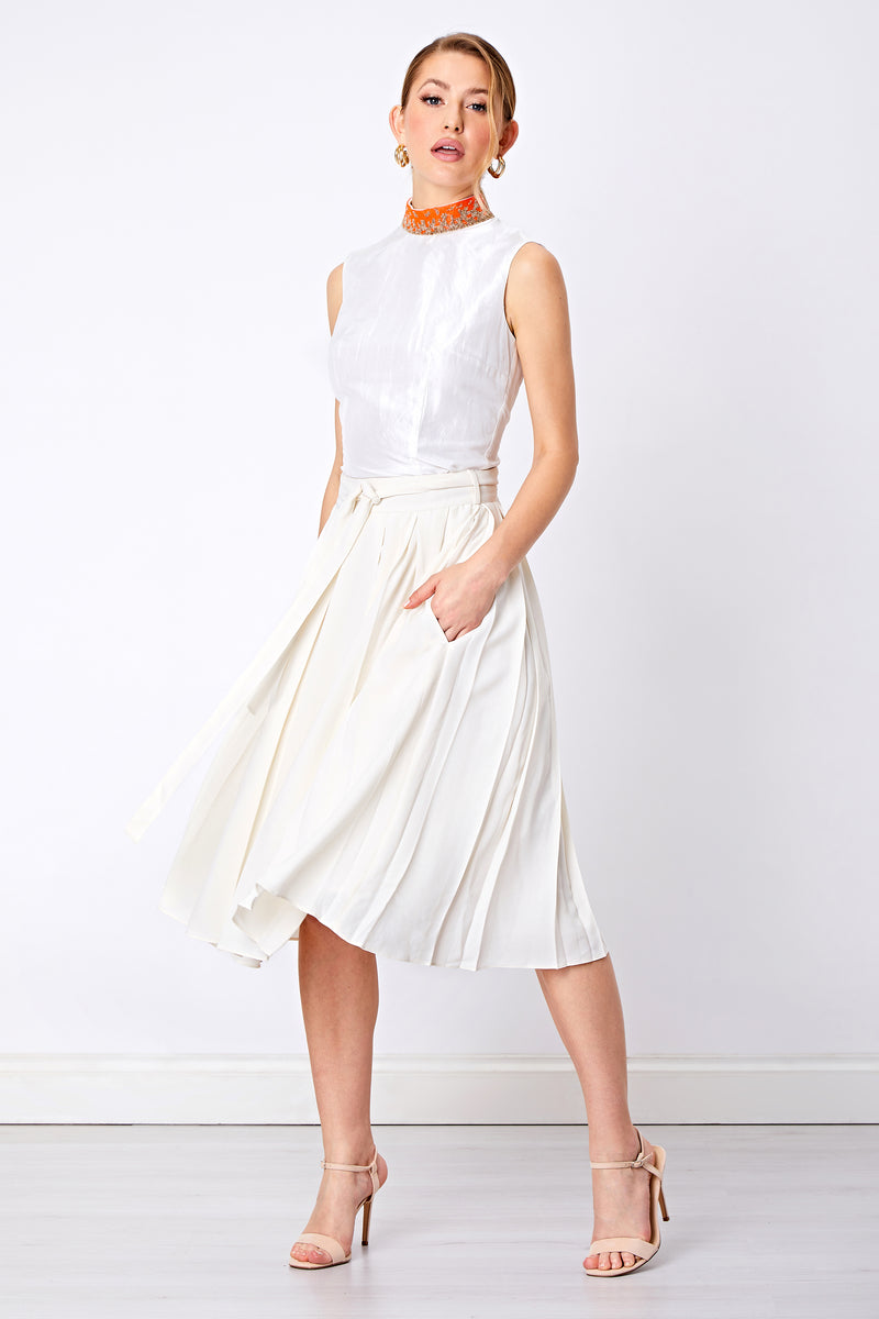 GABRIELLA BOX PLEAT SKIRT - Aarabhi