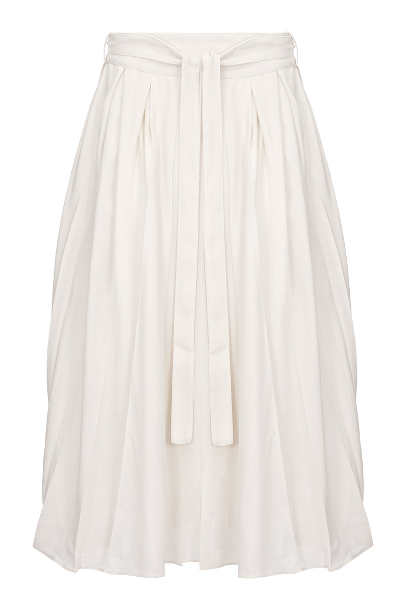 GABRIELLA BOX PLEAT SKIRT
