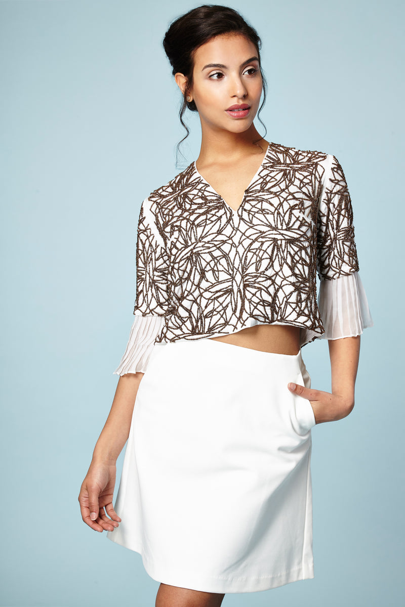 BRONZE BEADED TOP - Aarabhi