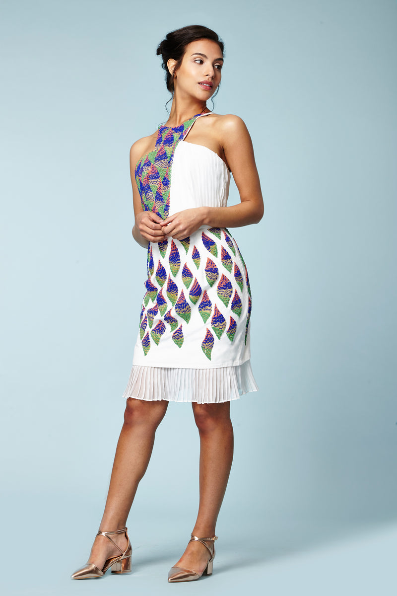 KING BEADED & PLEATED DRESS - Aarabhi