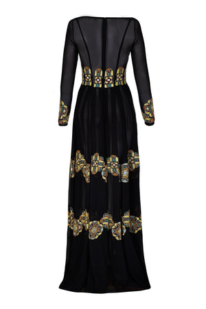 BELLE MAXI SHEER DRESS - Aarabhi