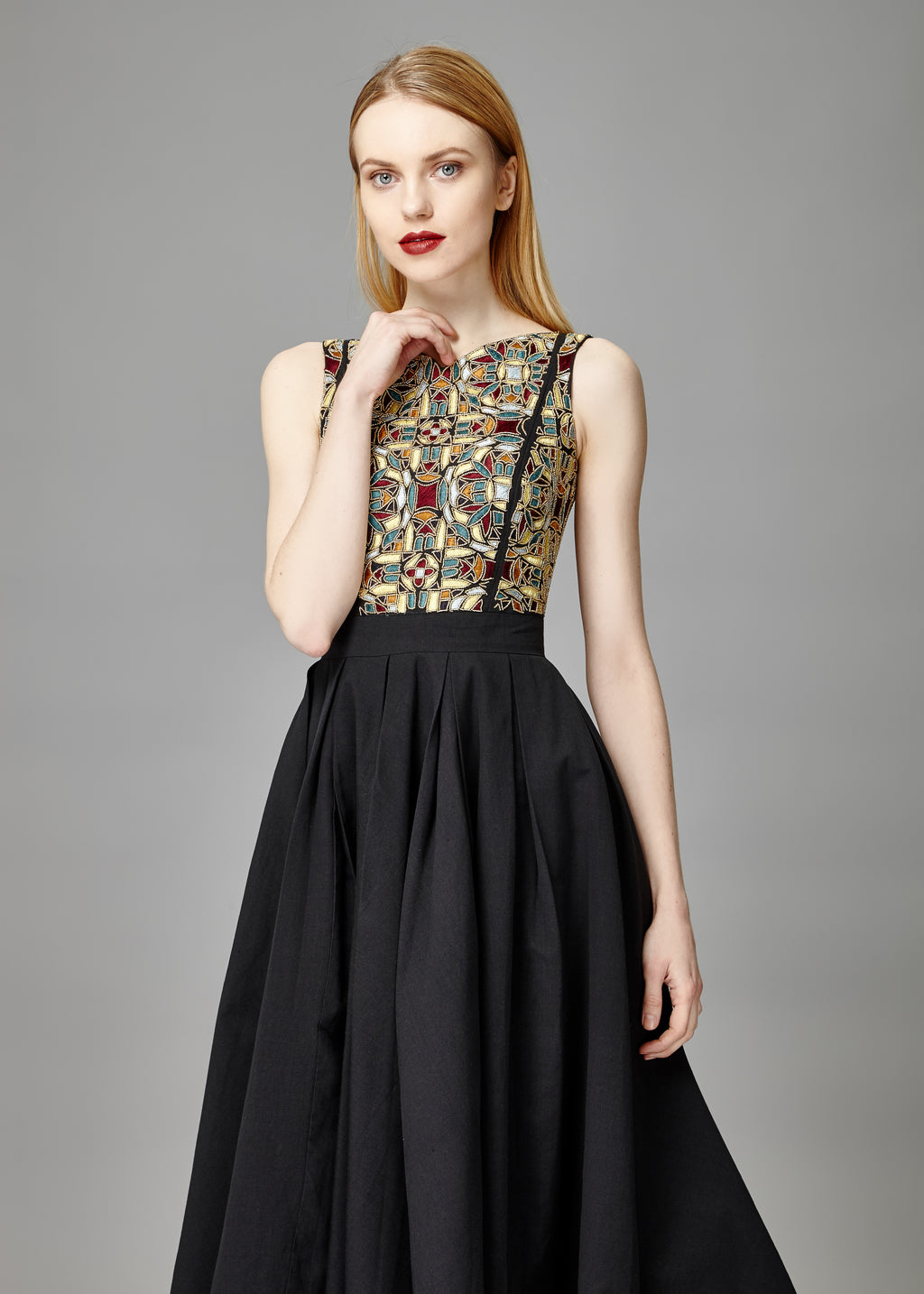 BELLE EMBELLISHED FLARED DRESS - Aarabhi