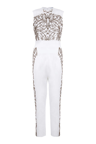 ROSE BEADED JUMPSUIT