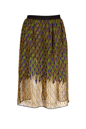 JENNA EMBELLISHED SHEER SKIRT