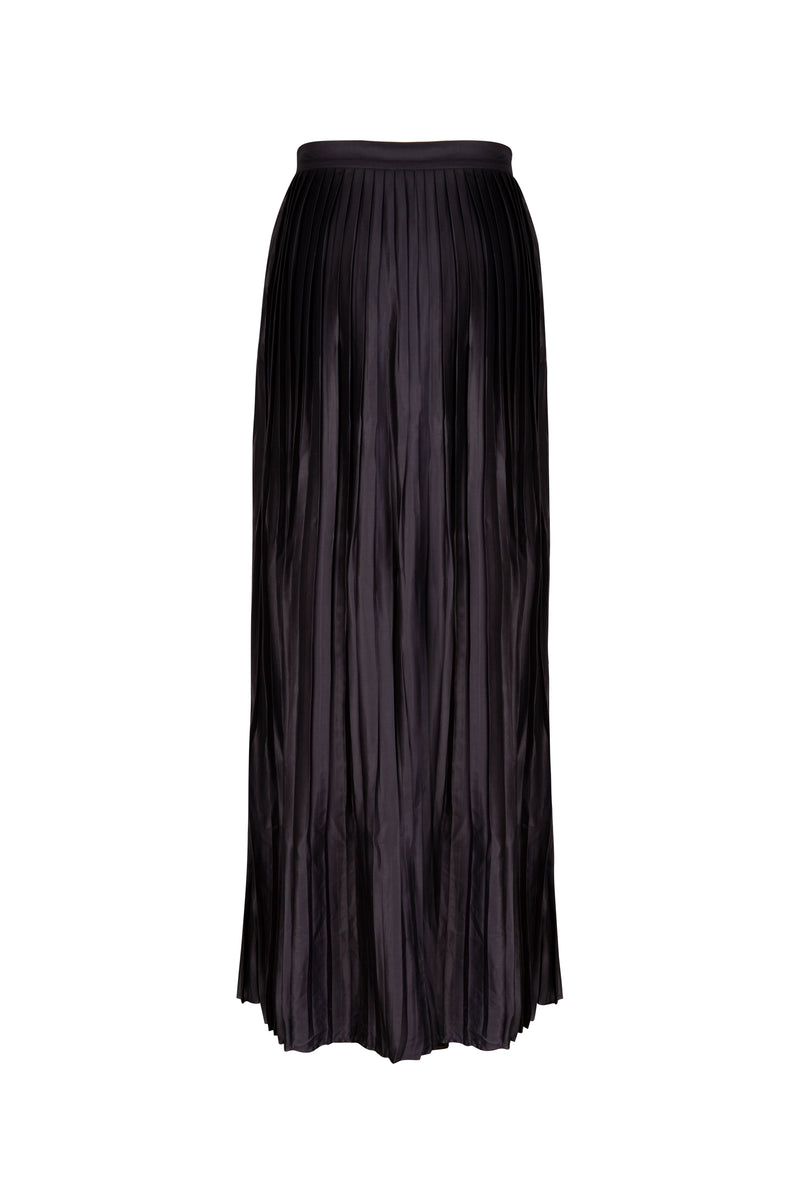 BAMBOO PLEATED MAXI SKIRT