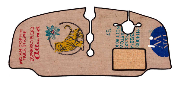 A Rugs for Bugs mat in Coffee Sack material