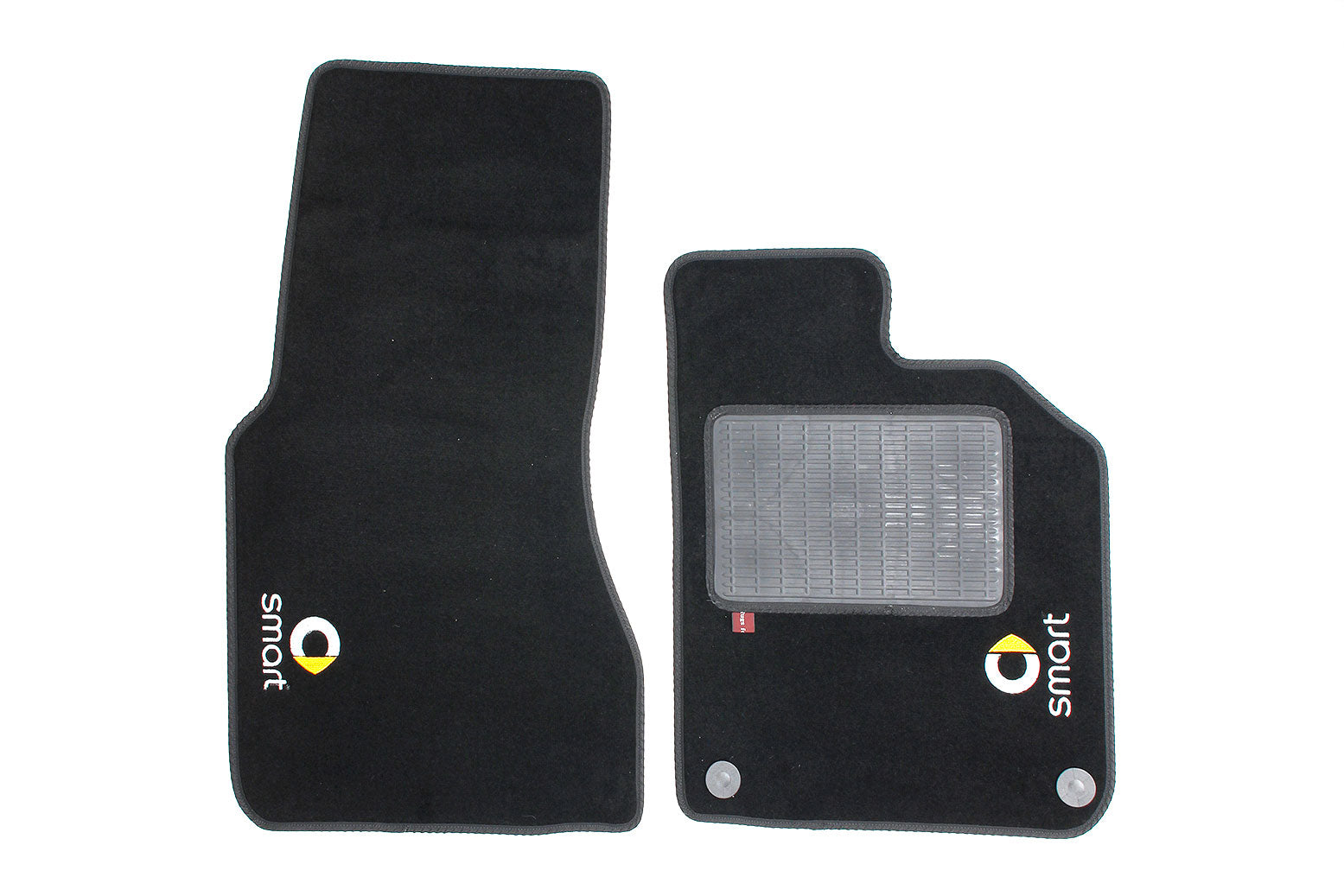 Smart Fortwo Coupe 2015 onwards - Over mat set with Smart logo