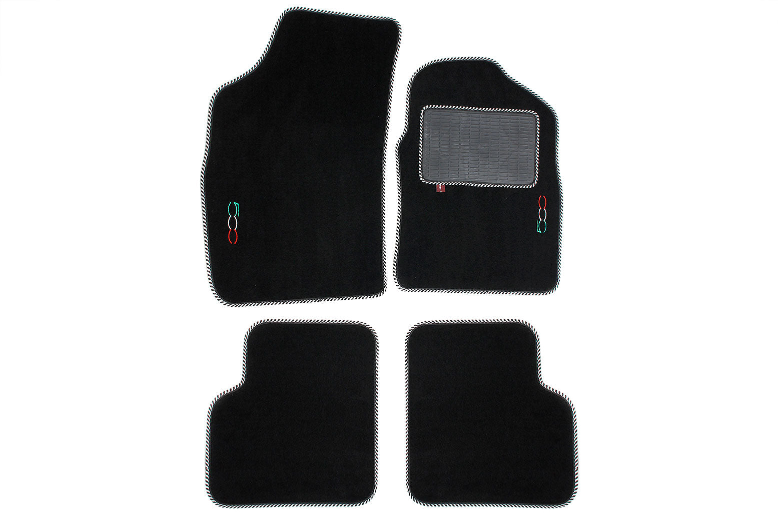 Fiat 500 - Over mat set with Fiat 500 logo