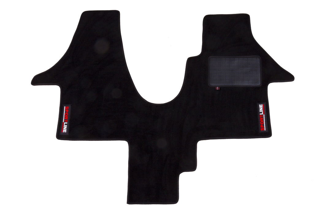 T6 Cab Mat 1+1 Seat with embroidered Sportline Logo