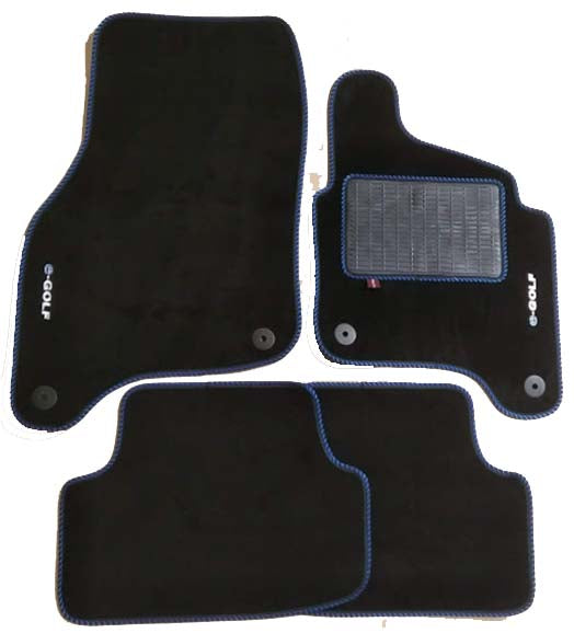 E-Golf Over Mat Set with embroidered logo.