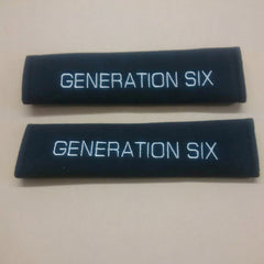 Generation Six embroiderd Padded seat belt covers.