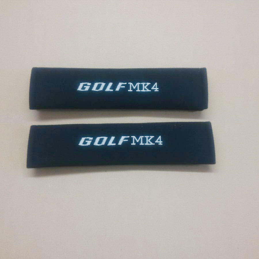 Golf MK4 embroidered padded seat belt covers.