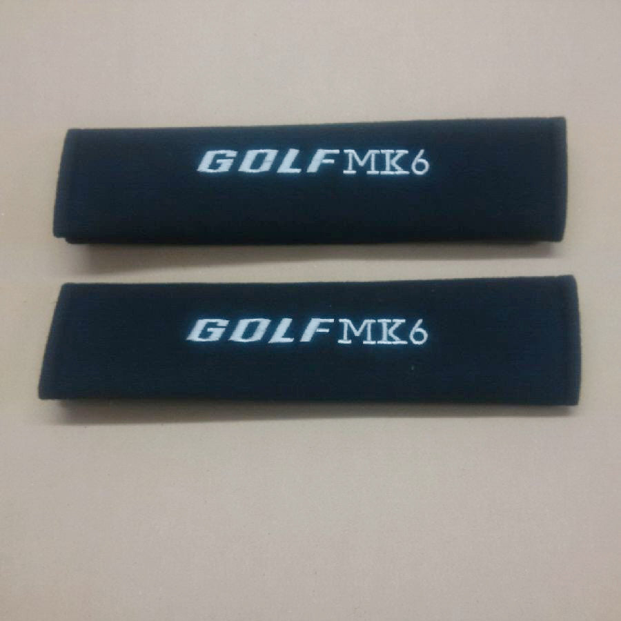 Golf MK6 embroidered padded seat belt covers.