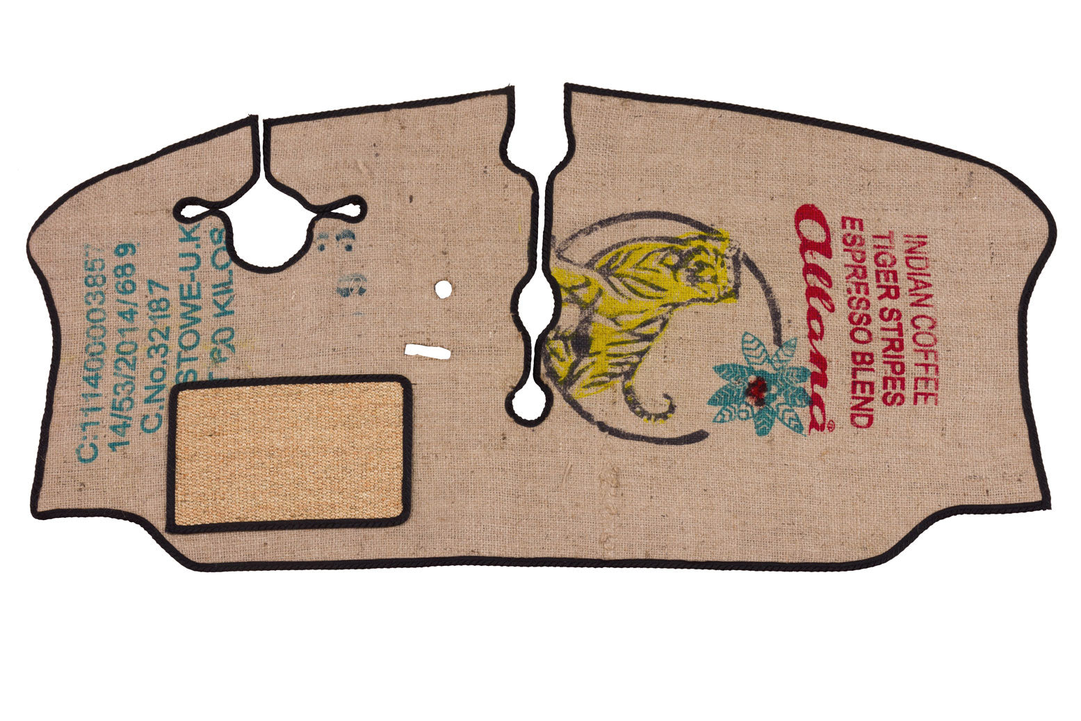 Late VW bay window camper van cab mat in coffee sack