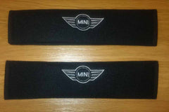 Mini One embroidered Padded seat belt covers.