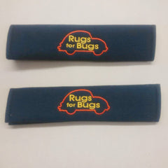 Genuine Rugs for Bugs embroiderd Padded seat belt covers.