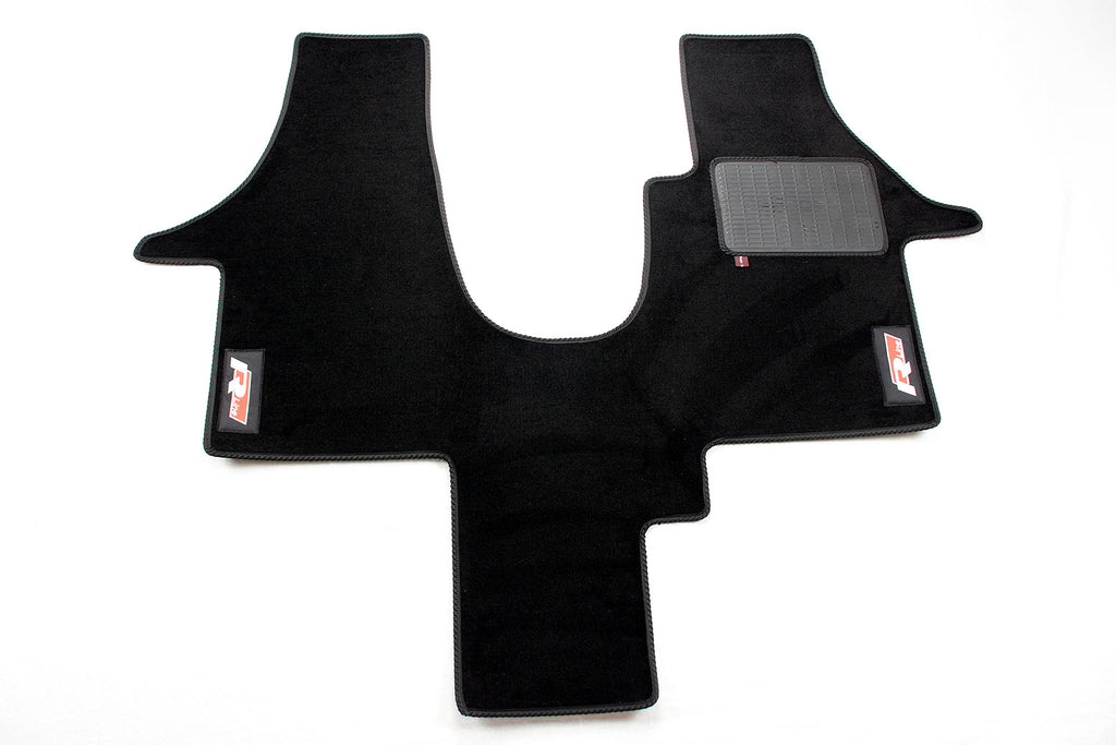 T6 Cab Mat 1+1 Seat with embroidered R-Line logo