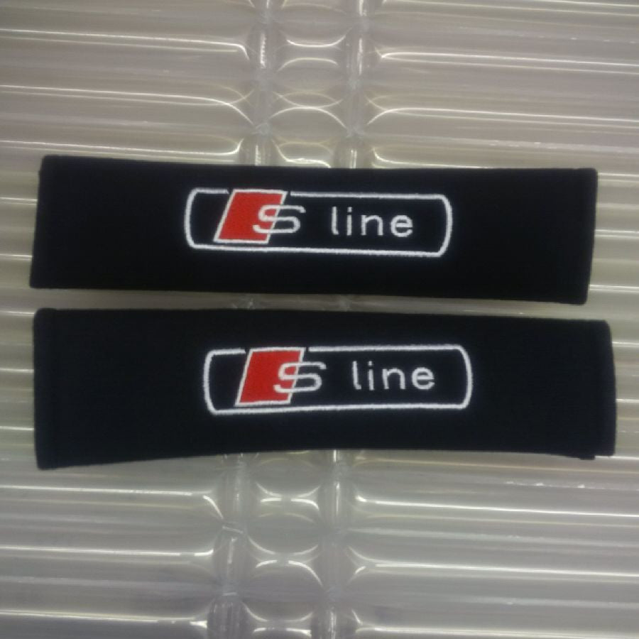 Sline embroiderd Padded seat belt covers.