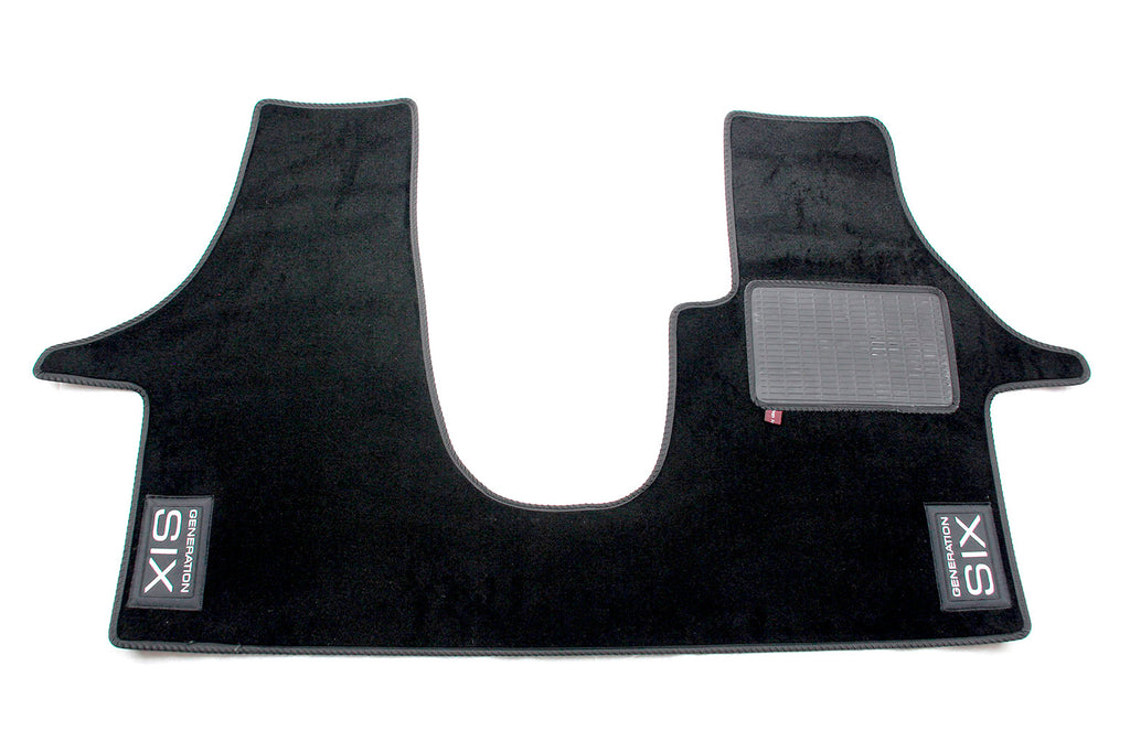 T6 Cab Mat 2+1 Seat with embroidered Generation Six logo