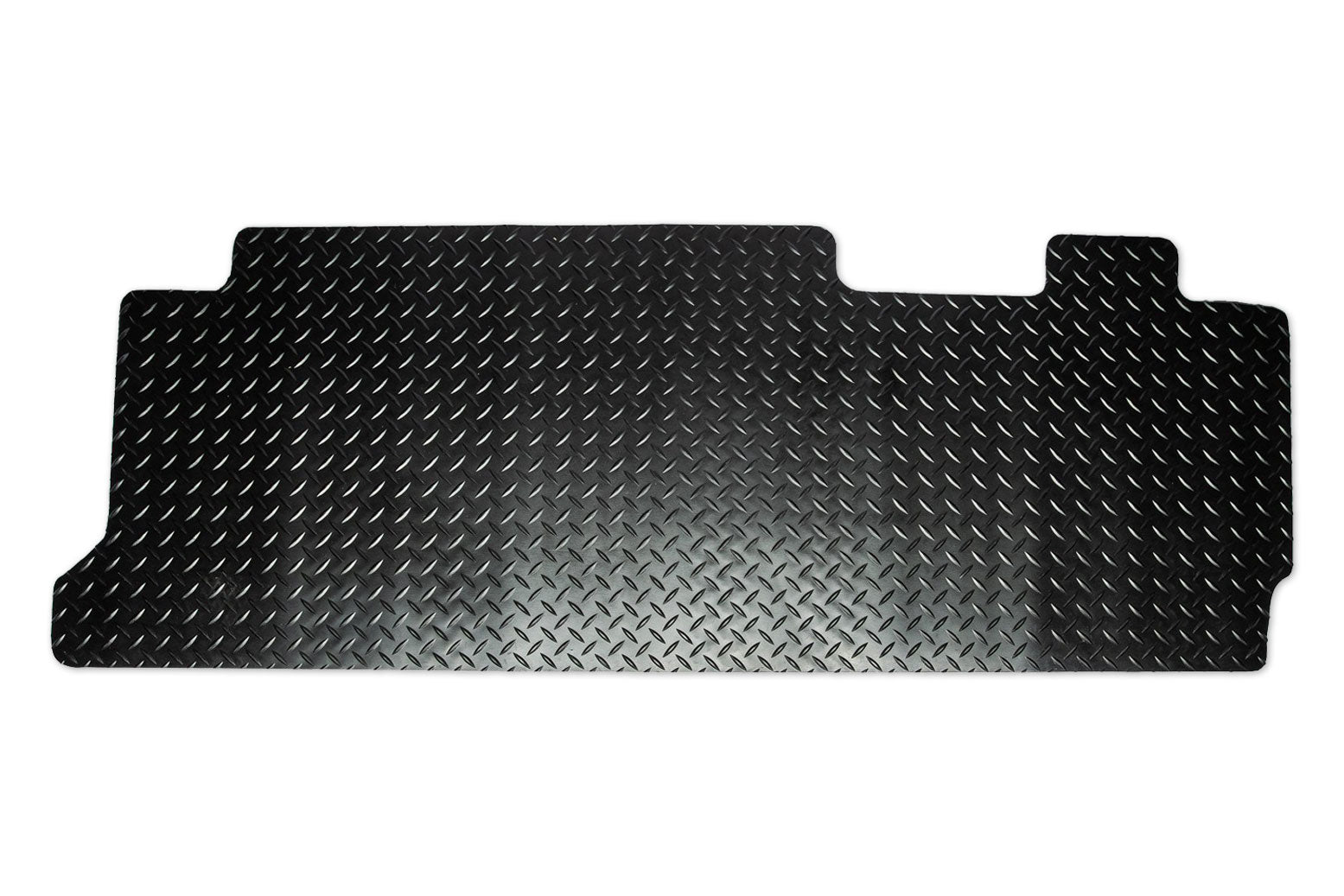 T6 point 1 combi rear mat for 2 plus 1 seat with double slider doors shown in black tread plate rubber