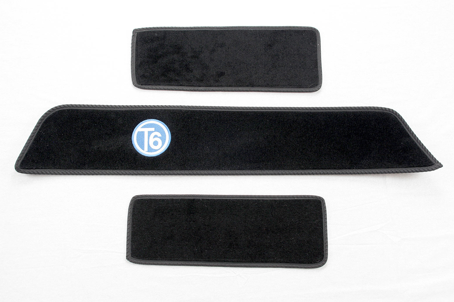T6 side step mat set with blue T6 logo