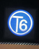 T6 Blue circle logo Side Steps