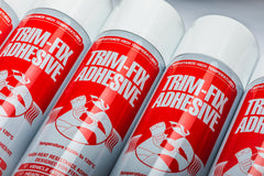 Trimfix spray adhesive for use on vehicle interiors