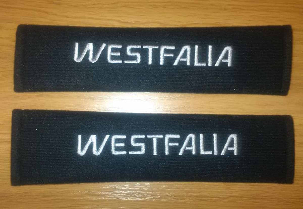 VW Westfalia T25, T3, Vanagon padded seat belt covers
