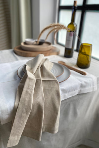 Grey Linen Towels (Set f 4)
