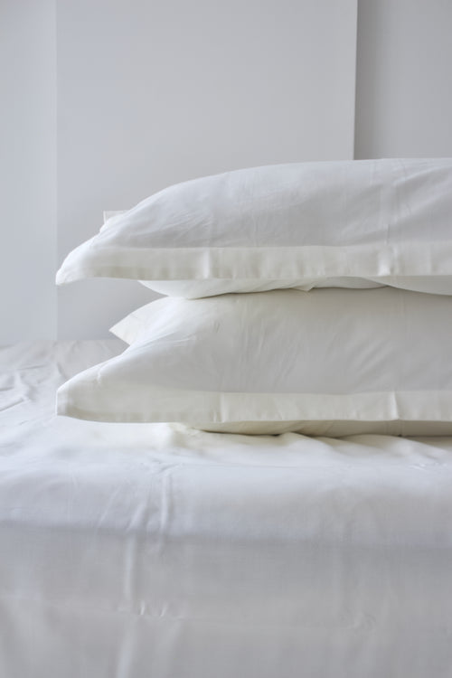 Fitted Sheet Set Limestone White