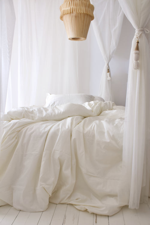 Duvet Set Cover Limestone White