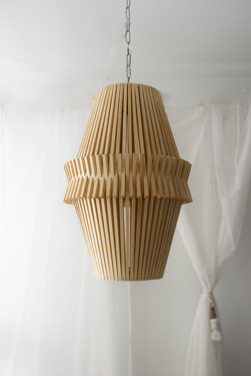 Wood Deck Chandelier